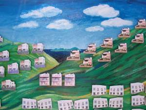 little houses on the hillside