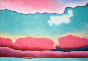 Landscape - pink clouds a