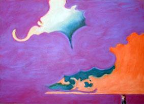 Landscape - turuncu dalga, mor bulut a