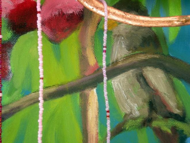 Zakkumda Kus Detayi 1 (Bird in Oleander Detail 1)