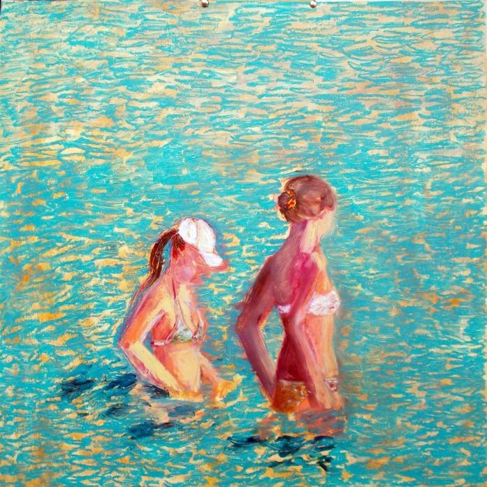 _A3 2 bathers - Endless Deniz130814 oil sticks