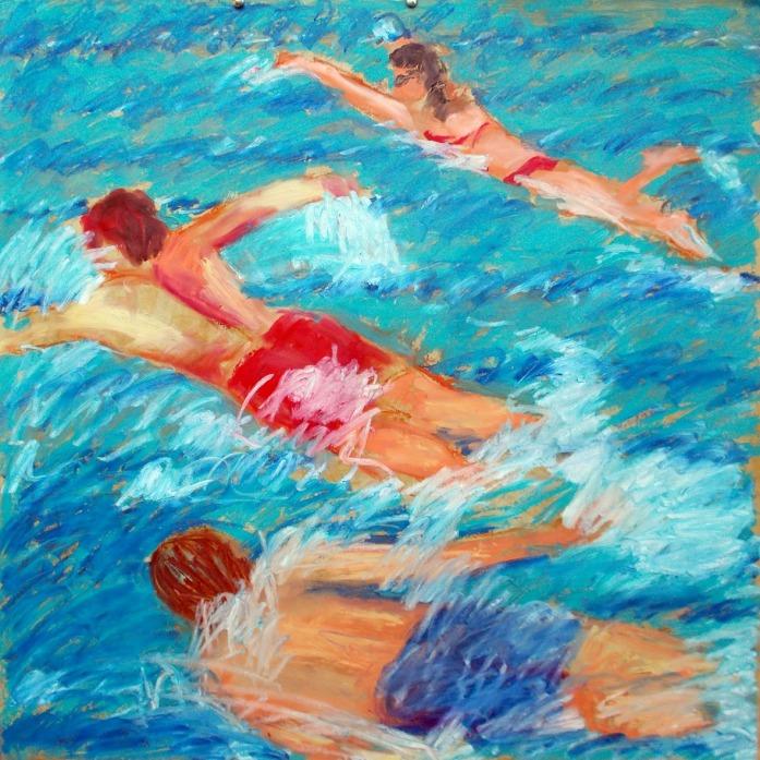 _A4 3 swimmers at Kissebükü 130814 oil sticks