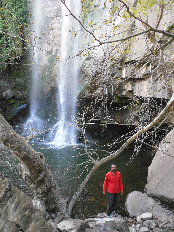 harun at bottom of falls