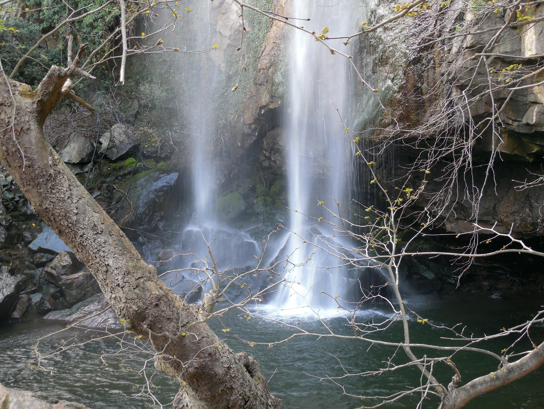 pool at bottom of falls