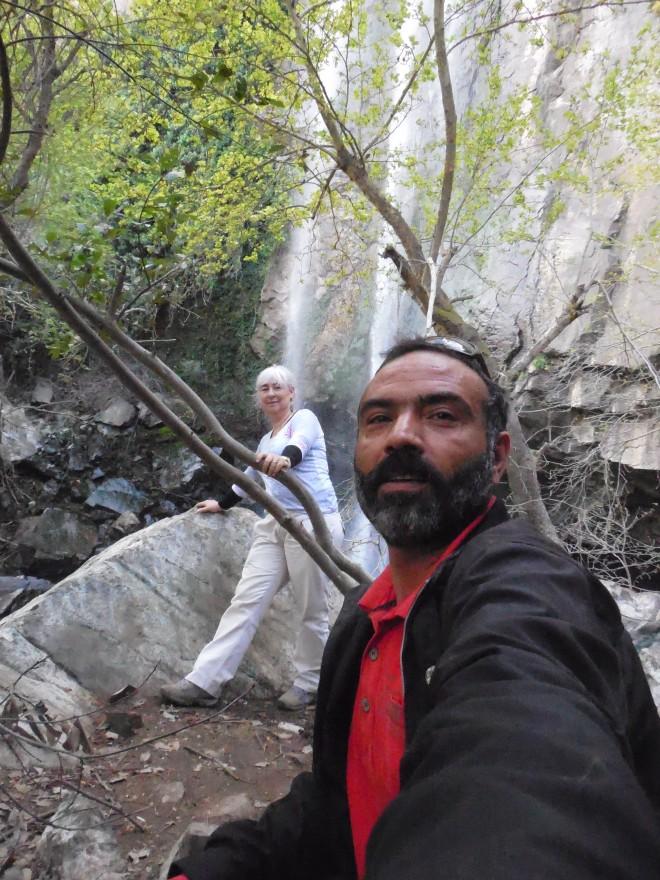selfie waterfall